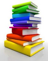 Multicolored stack of books