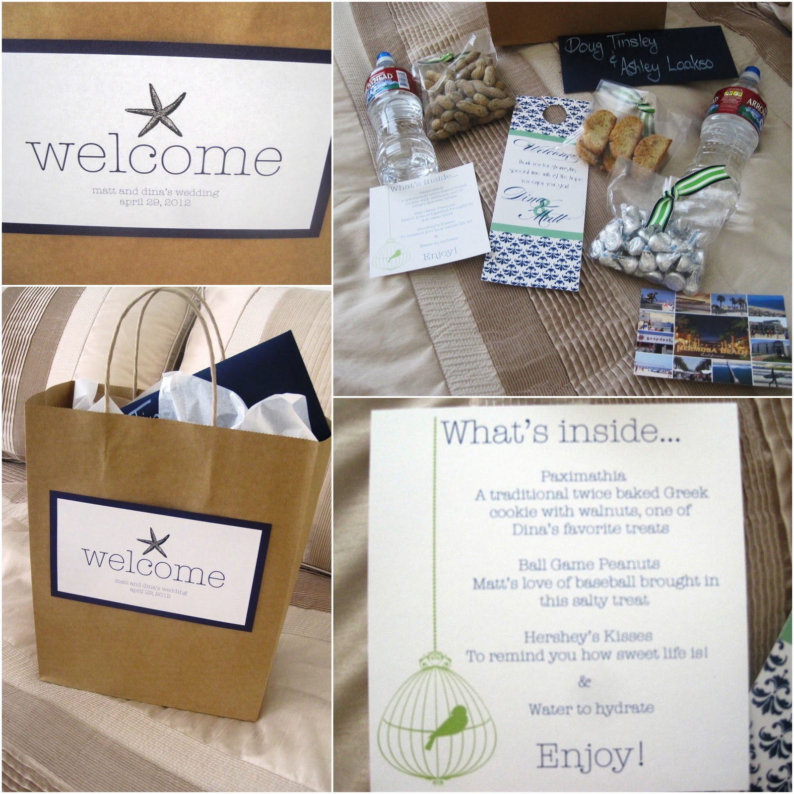 Wedding Hotel Goodie Bag Ideas : Parentesi Wedding Blog: La perfetta Wedding WELCOME BAG