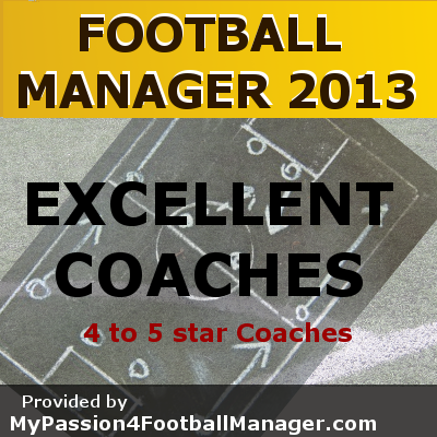 Football Manager 2013 Excellent Coaches
