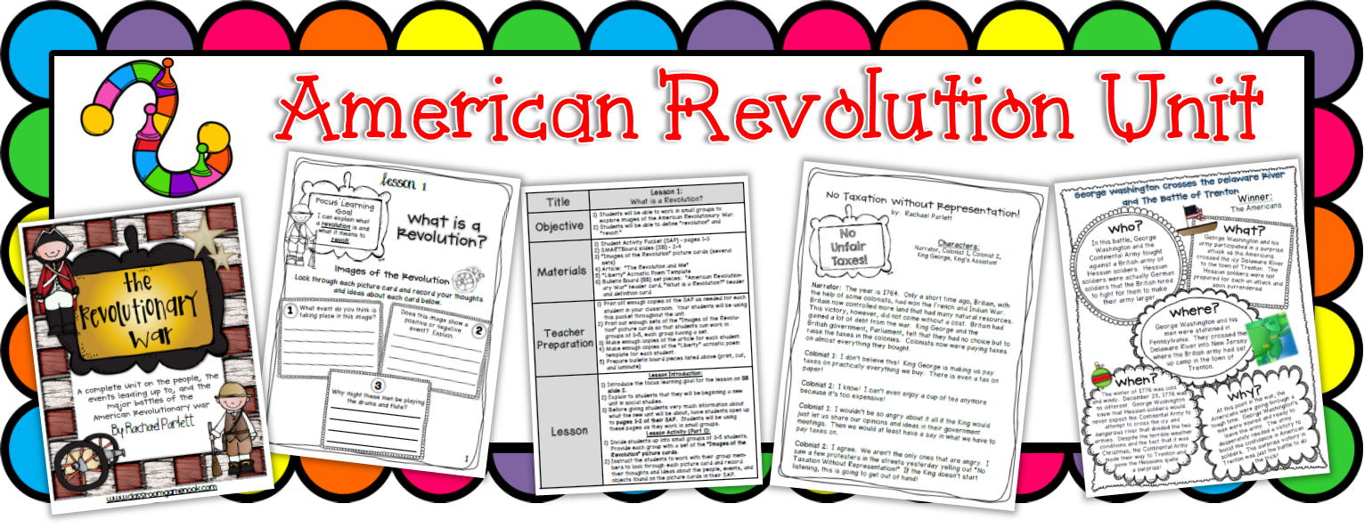 https://www.teacherspayteachers.com/Product/American-Revolutionary-War-Complete-Unit-1083350