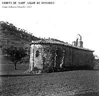 La capella de Sant Jaume de Rosanes. Fotografia de Josep Salvany Blanch, 1912. Biblioteca de Catalunya