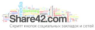 Скрипт кнопок социальных закладок и сетей Share42