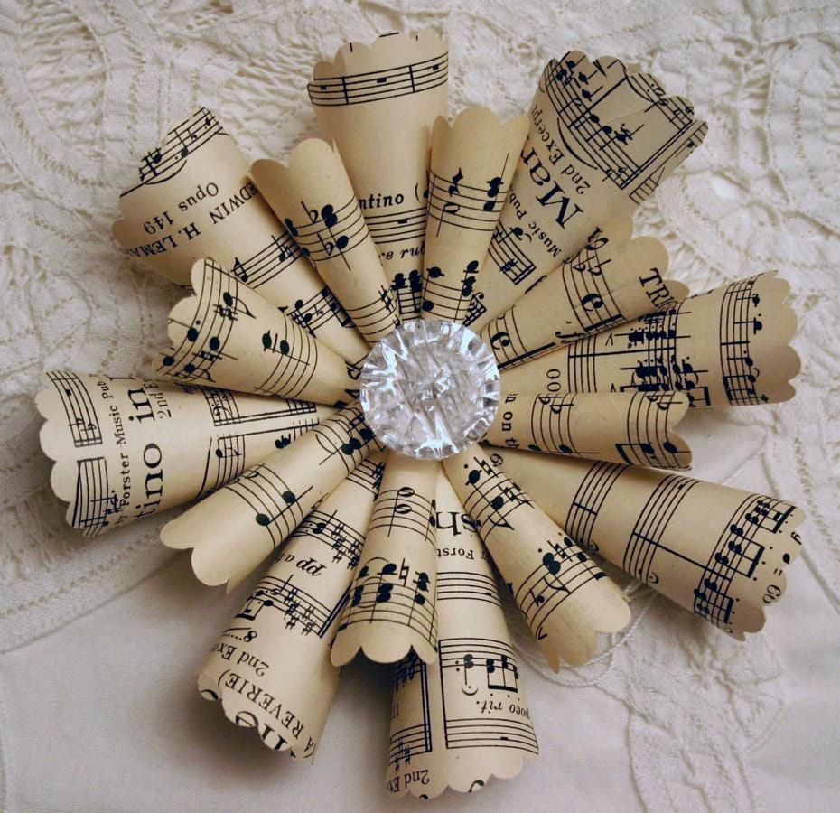 Sleepy In Seattle: Sheet Music Ornaments
