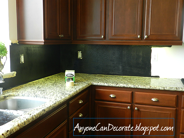 anyone can decorate: my $10 kitchen back-splash chalkboard