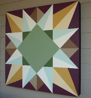Wooden quilt block for my house for Front door quilt pattern