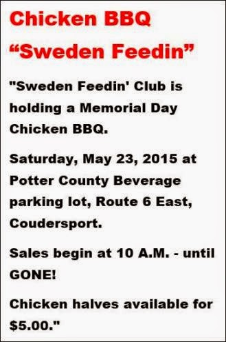 "5-23 Chicken BBQ ""Sweden Feedin"""