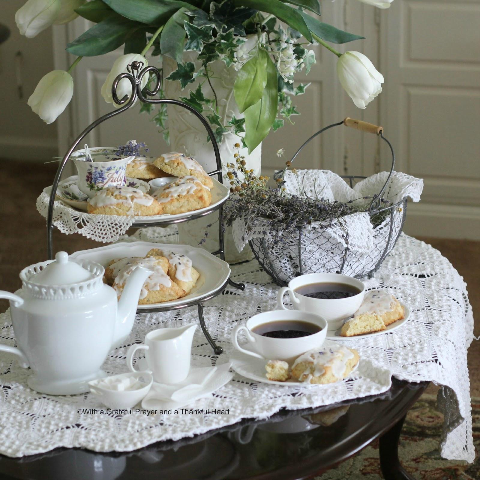Sweet Lavender Scones in the Parlor | Grateful Prayer ...
