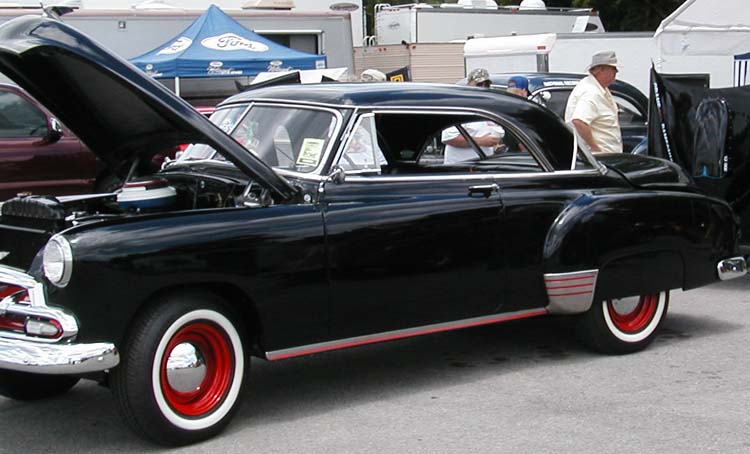 Car city black red white for 1952 chevy 2 door hardtop