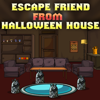 Ena escape friend from halloween house walkthrough for Minimalist house escape walkthrough