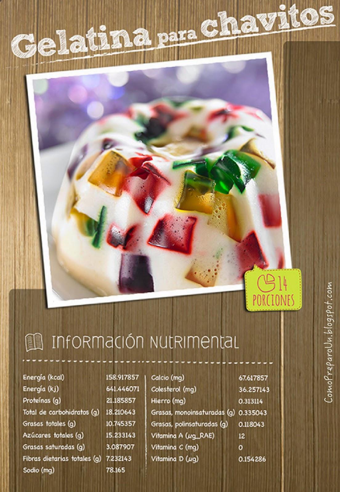 Loncheras nutritivas para ni os postre de gelatina for Como preparar comida para ninos