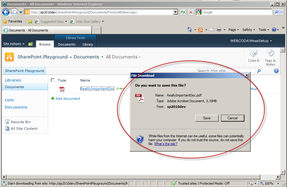 Open pdf in sharepoint jack katie for Download document link sharepoint