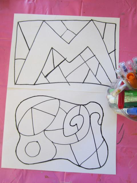 colour, inside lines, fine motor skills