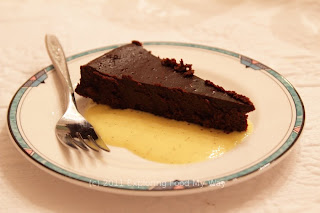 Flourless Chocolate Cake with Creme Anglaise