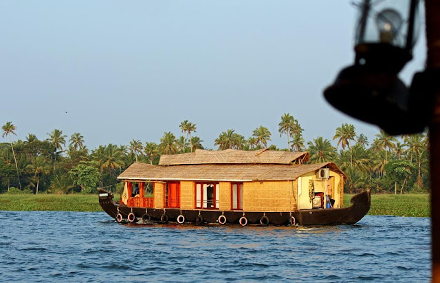 Kerala houseboat in the backwaters