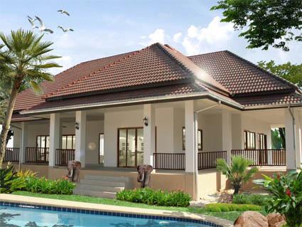 gambar rumah depan on ... macam ni. Tengok rumah je, abaikan kolam yang dekat depan tuh! haha