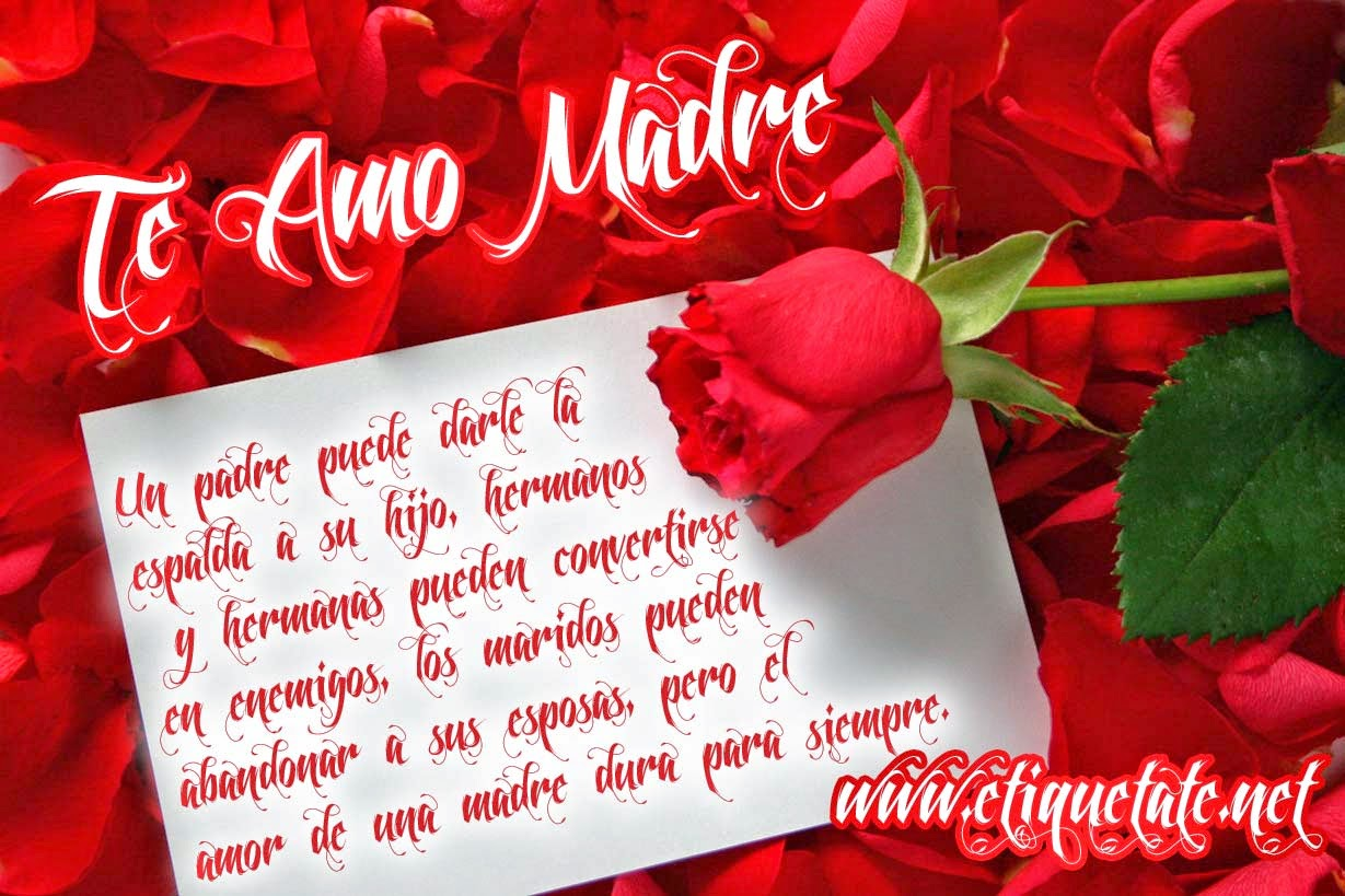 Frases De Feliz Día De La Madre: Te Amo Madre