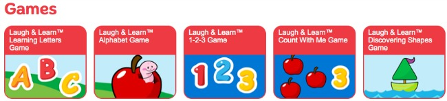 Fisher price online games