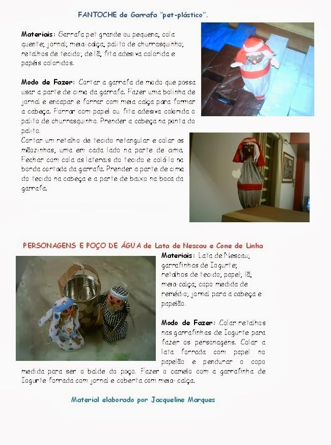Fantoche de Garrafa PET e Personagens de SUCATA,contação de história,educação infantil