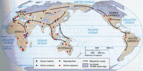 Migration of Early Humans