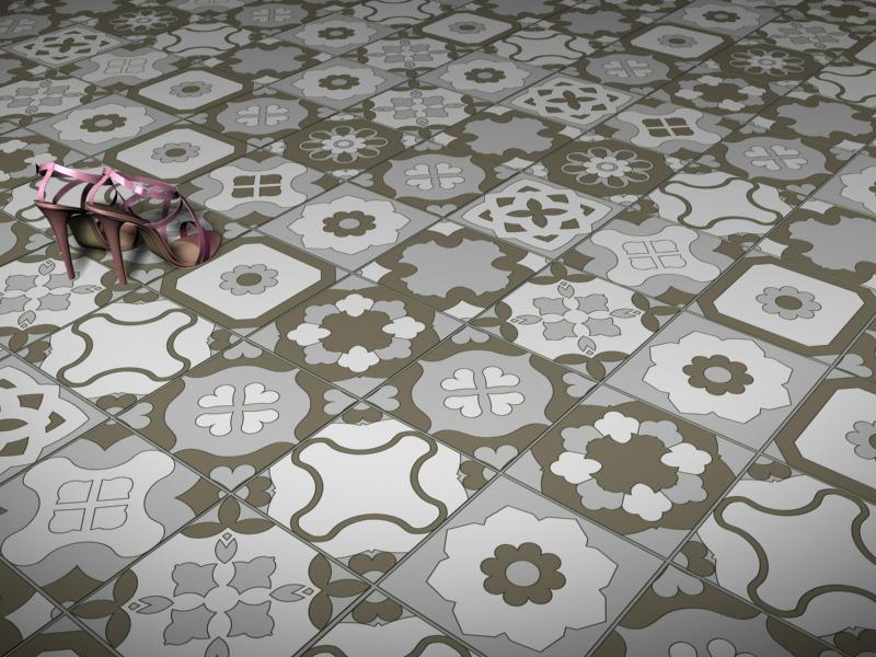 decomondo patchwork di piastrelle