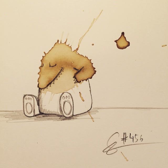 20-Sleeping-Stefan-Kuhnigk-Monster-Drawings-within-Coffee-Stains-www-designstack-co