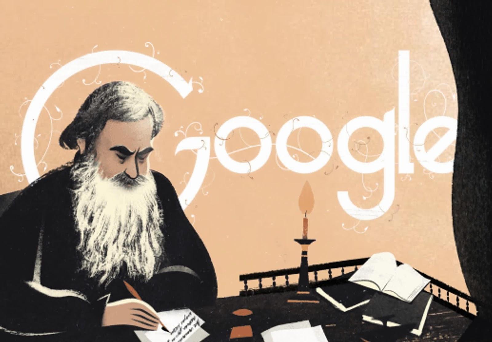 Leo Tolstoy's Birthday Commemoration Today's Google Doodle