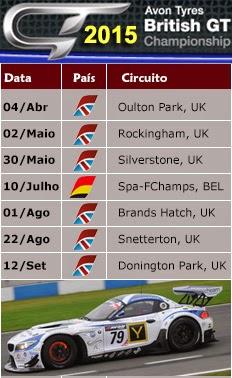 BRITISH GT - Calendário