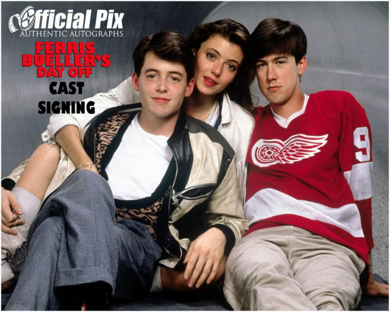 Official Pix Ferris Bueller's Day Off Private Signing! Deadline August 20.