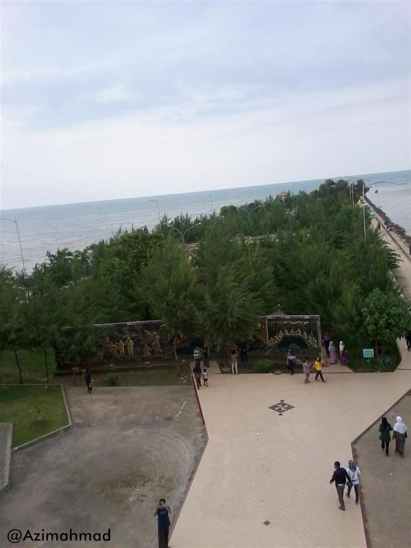 Wisata Pantai Boom Tuban Jawa Timur, Foto panjang Pantai Boom Tuban.