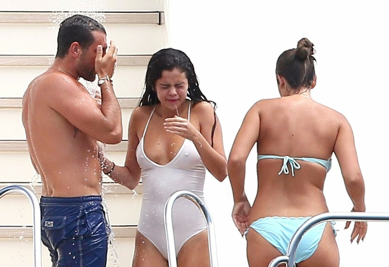 Selena Gomez in a Swimsuit on a Yacht in Saint-Tropez July 2014