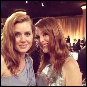 Globos de Oro 2015: selfie de Amy Adams y Julianne Moore