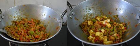 capsicum paneer recipe