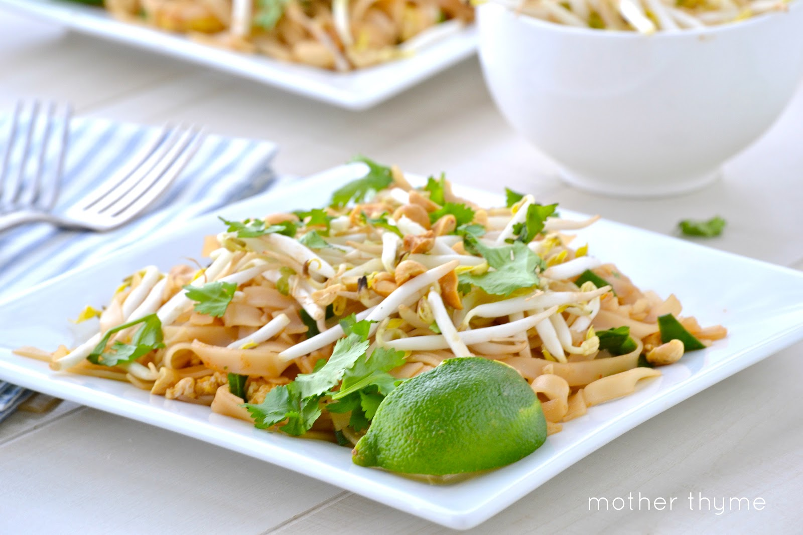 Vegetable Pad Thai - Mother Thyme
