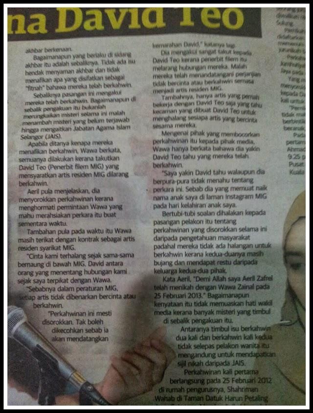Kenapa Aeril Zafrel Dan Wawa Zainal Kahwin Sorok?