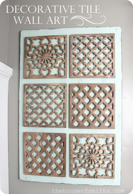 Decorative Wall Art Panels : Diy decorative tile wall art