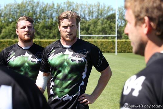 Centre: Brendon O'Connor, Hawke's Bay Magpies, rugby training at Park Island, Napier. photograph