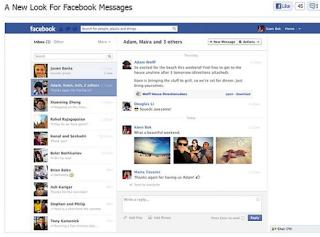 facebook messaggi layout