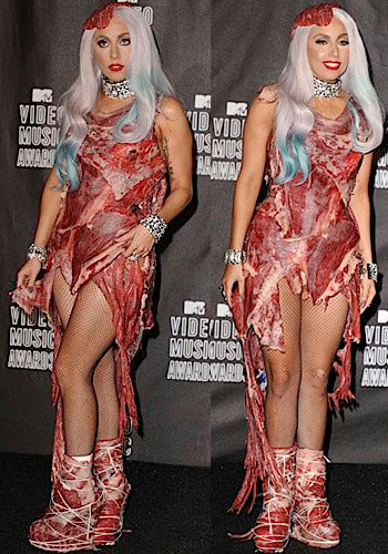 Lady Gaga In Meat Dress. girlfriend Lady Gaga Meat