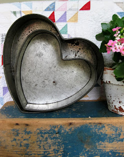 Early Tin Heart Cake Pans