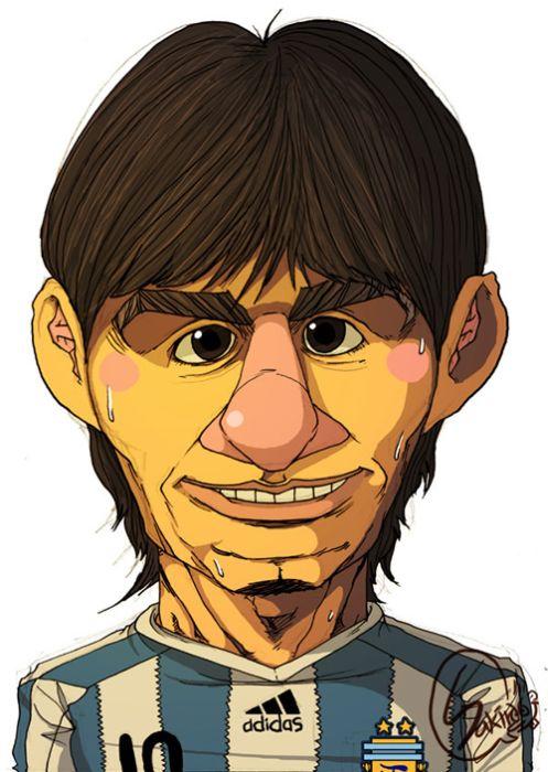 caricatura de Leonel Messi