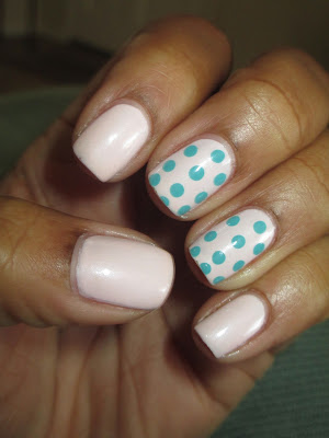 Julep, Ava, Robin, pink, baby pink, mint, polka dot, easy, simple, nails, nail art, nail design, mani
