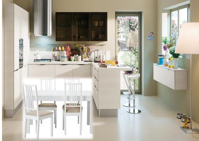 cucina con penisola | gena design - Tavolo Penisola Cucina
