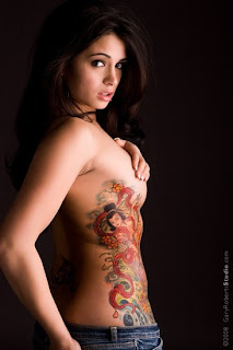 Sexy Model Full Body Tattoo Hot