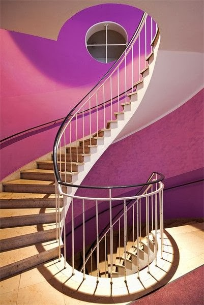 curved stairs designs in München, Germany