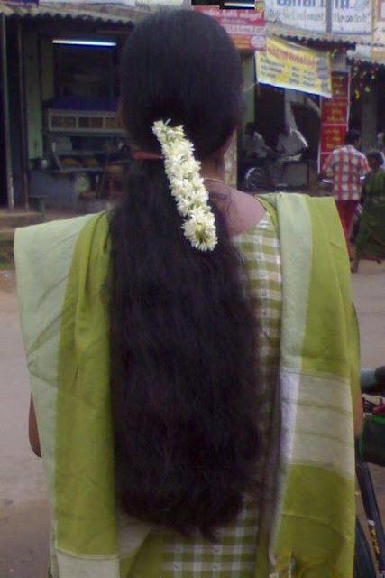 waist length long hair