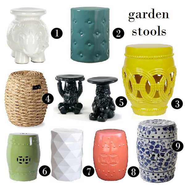 Decor You Adore Pull up a stool a garden stool