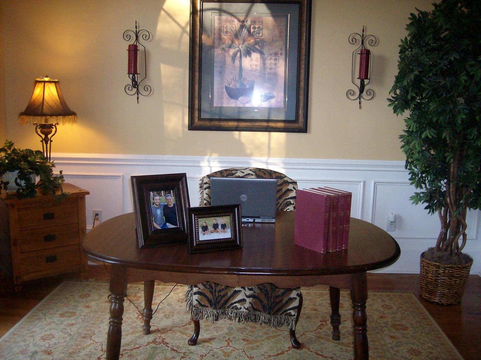 From house to home transformed traditional dining room for Dining room into office