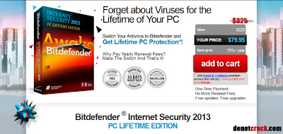 Bitdefender ® Internet Security 2013 75% OFF Xmas & New Year's Deal