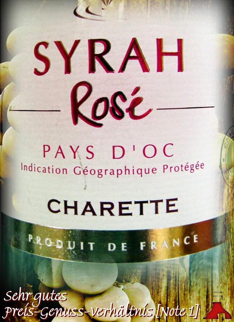 Aldi Nord, Test und Bewertung: Charette Syrah Rosé 2013 und 2014