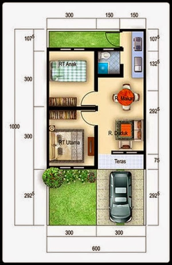 Rumah minimalis Type 36 4